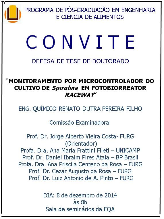 Convite Defesa de Tese de Doutorado
